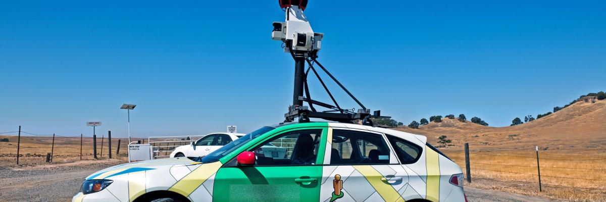 Video-equipped vehicle takes images of roadway